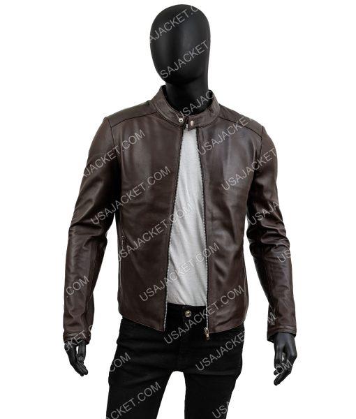 Mens Casual Chocolate Brown Jacket