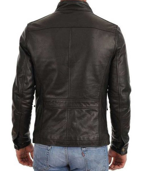 Mens Racer Four Pocket Black Jacket