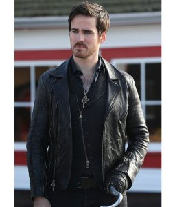 Captain Hook Biker Leather Jacket