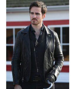 Captain Hook Biker Leather Jacket