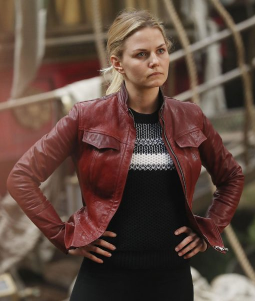 Emma Swan Jennifer Morrison Red Leather Jacket