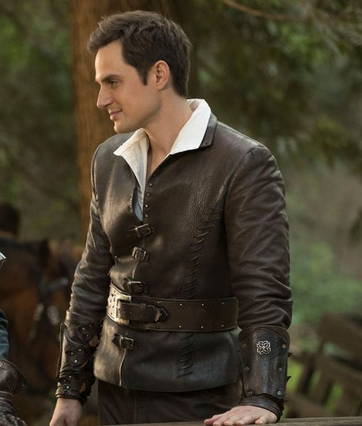 Andrew J. West Once Upon A Time Brown Leather Jacket
