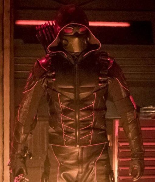 Stephen Amell Dark Arrow Leather Jacket