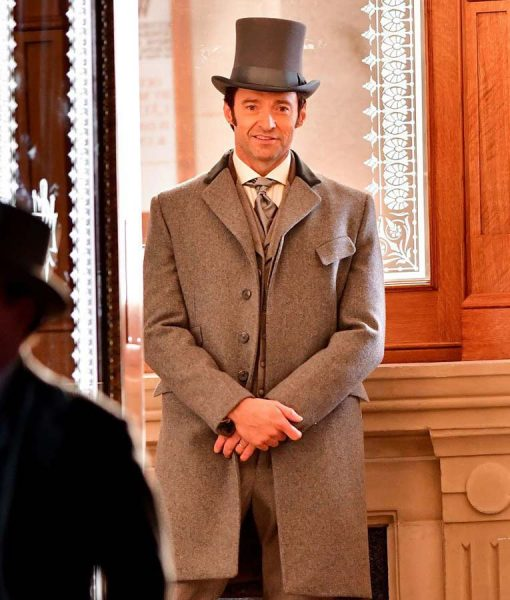 The Greatest Showman Hugh Jackman Grey Coat