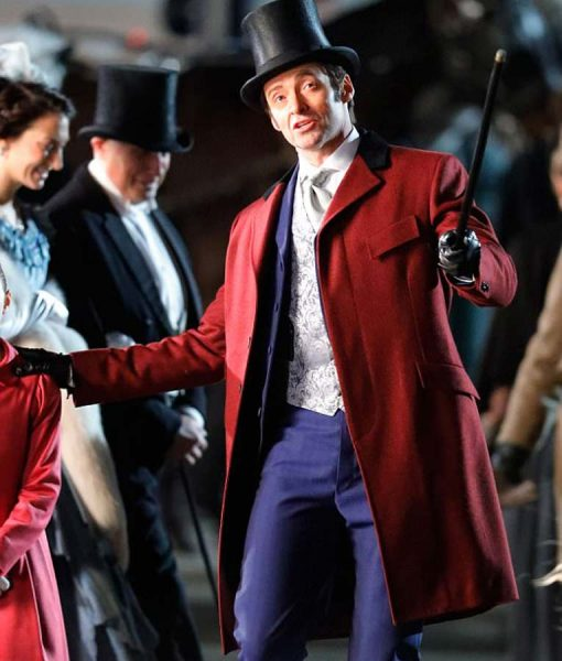 The Greatest Showman Hugh Jackman Red Coat
