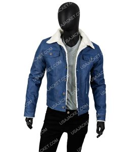 Tommy Jarvis Blue Denim Jacket With Fur-Lining