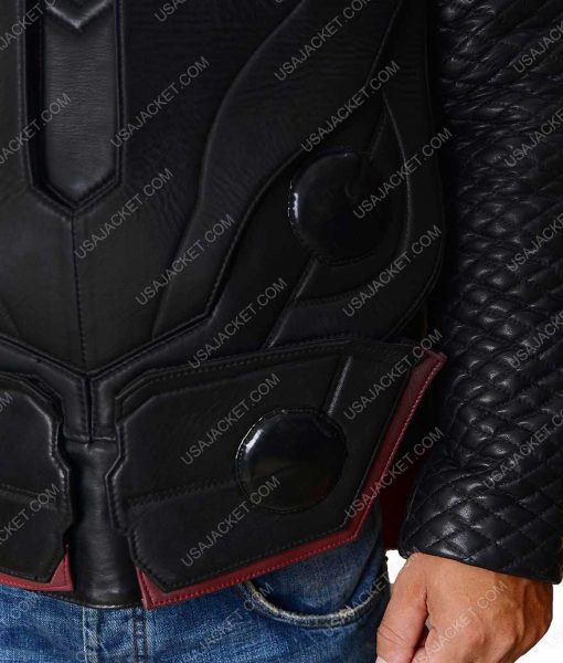 Chris Hemsworth Avengers Infinity War Leather Vest