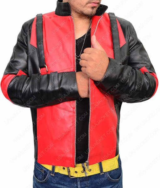 Deadpool Game Red and Black Leather Jacket