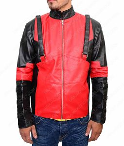 Deadpool Red and Black Gaming Jacket