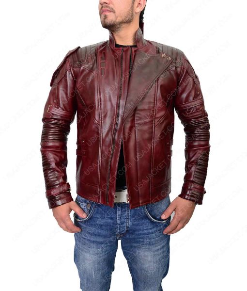 Infinity War Chris Pratt Star Lord Leather Jacket