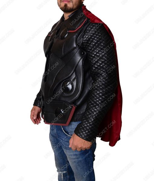Chris Hemsworth Infinity War Thor Leather Vest