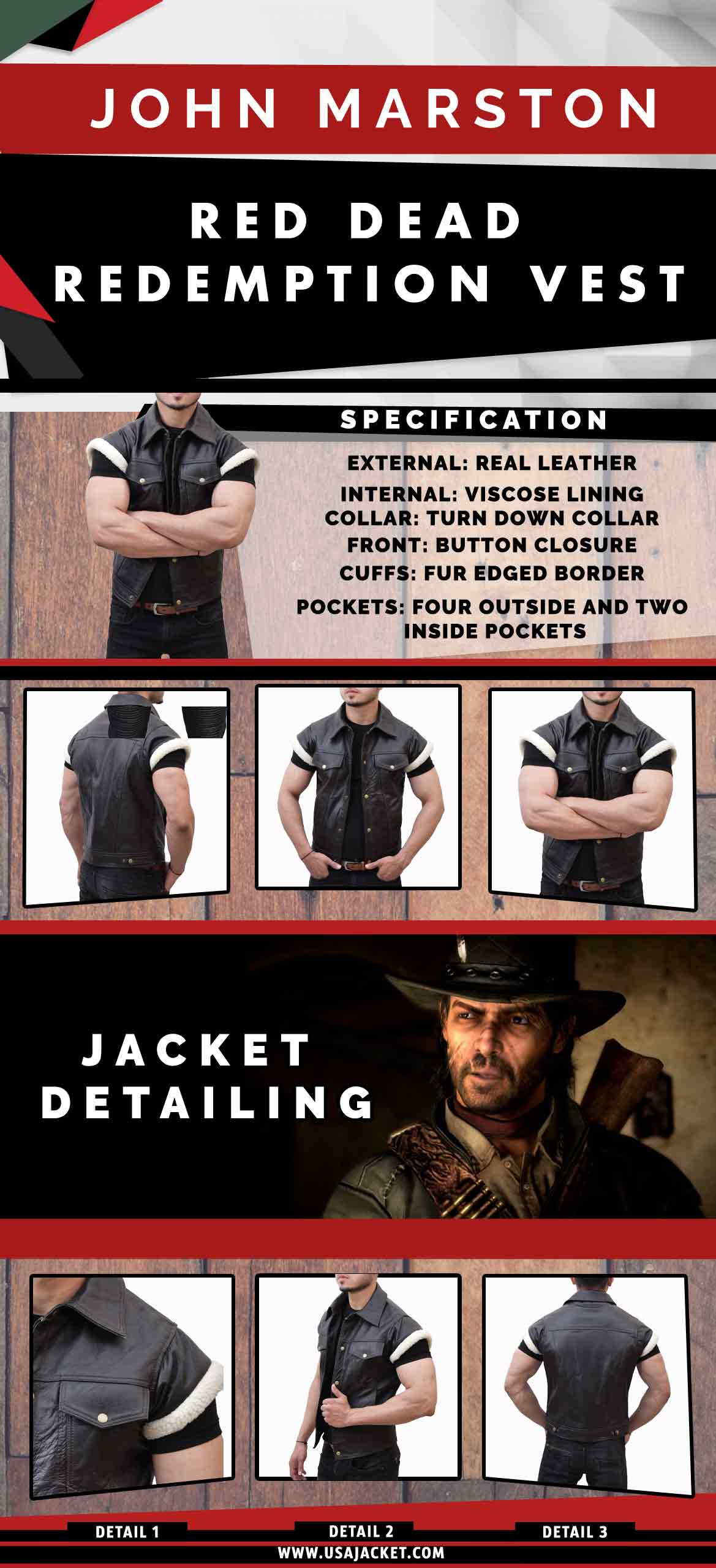John-Marston-Red-Dead-Redemption-Vest-usa