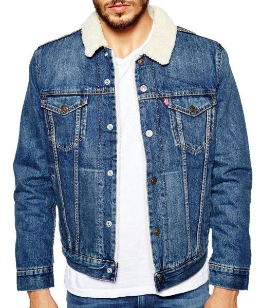 Judhead's Shearling Blue Denim Jacket