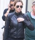 MI6 Rebecca Ferguson Black Leather Jacket