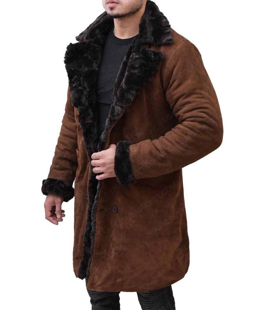 966a9edc707 Mickey O Neil Brad Pitt Snatch Suede Coat - USA Jacket