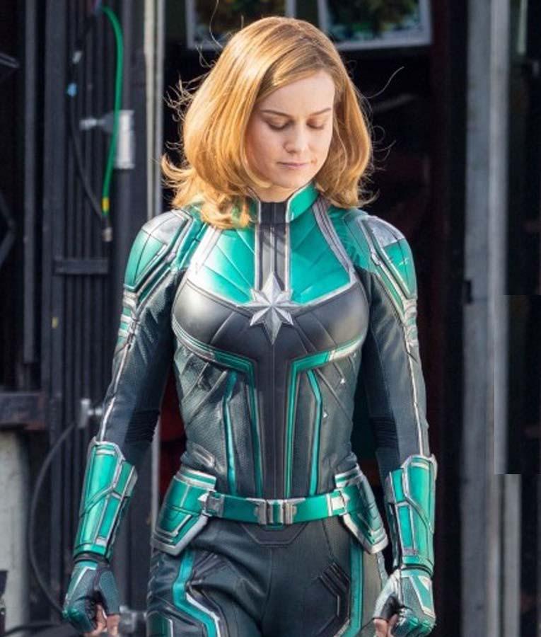 Team Captain Marvel Green Leather Jacket Usa Jacket