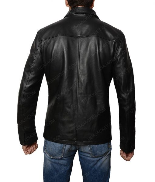 Moon Ricky Whittle Distressed Leather Jacket