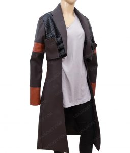 Guardians Of The Galaxy Gamora Zoe Saldana Leather Jacket