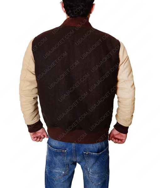 Payday 2 Richard Womens Brown Letterman Jacket