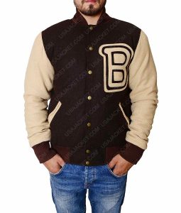 Hotline Miami Brown Varsity Jacket