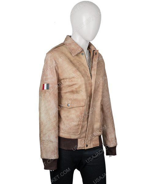 Alyssa Oversized Bomber Leather Jacket