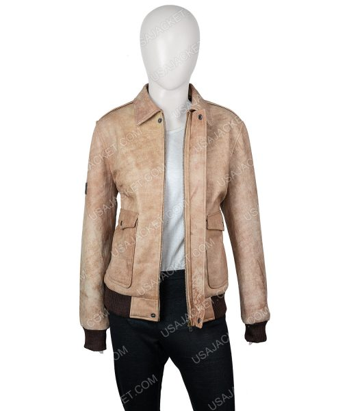 Jessica Barden Alyssa Leather Jacket