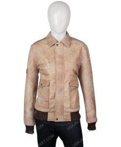 Jessica Barden Alyssa Suede Leather Jacket