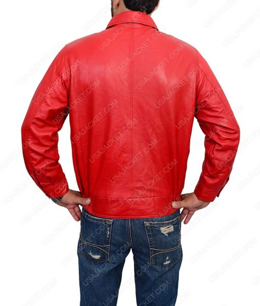 Jim Stark Bomber Red Leather Jacket
