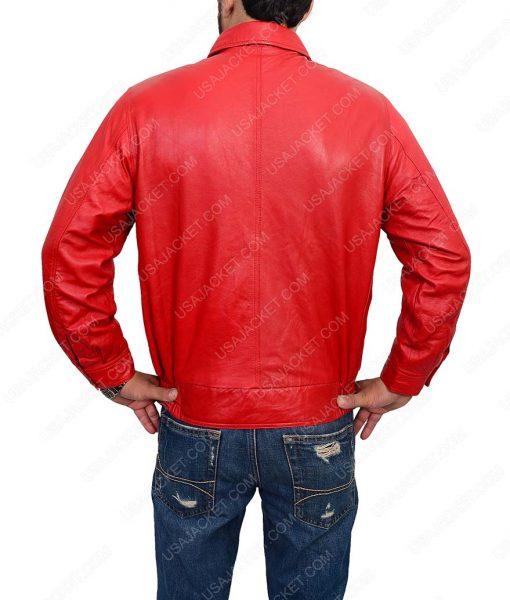 Jim Stark Bomber Red Leather Jacket