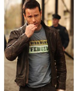 Lockout Guy Pearce Brown Jacket