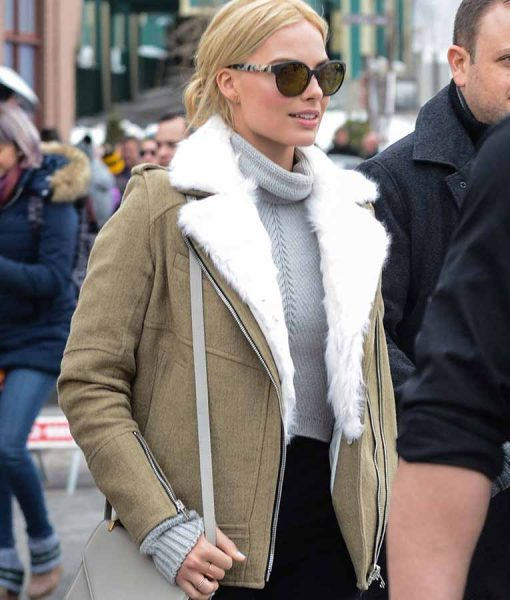 Margot Robbie Aviator Jacket