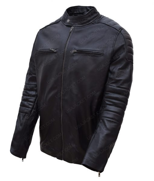 Accident Man Mike Fallon Scott Adkins Black Padded Jacket