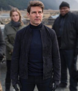 Ethan Hunt Mission Impossible 6 Tom Cruise Suede Leather Jacket