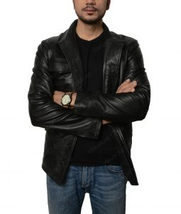 Moon Ricky Whittle Distressed Black Jacket