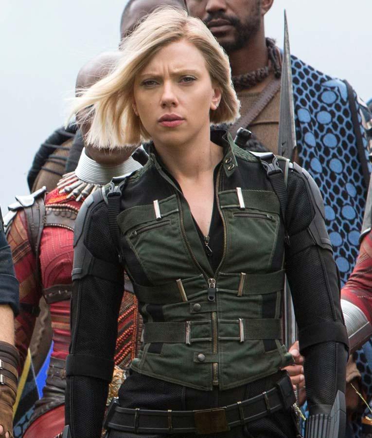Avengers infinity war natasha romanoff black widow vest - Natacha avenger ...