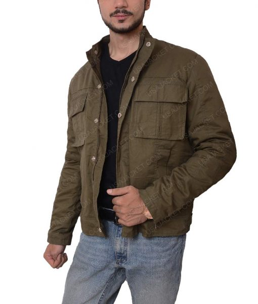 Nathan Drake Lightweight Slimfit Grey Cotton Jacket