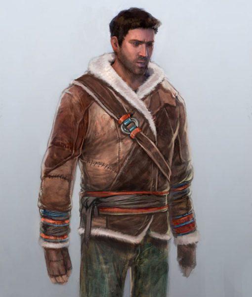 b574302ad7d9 Uncharted Nathan Drake Brown Winter Jacket - USA Jacket