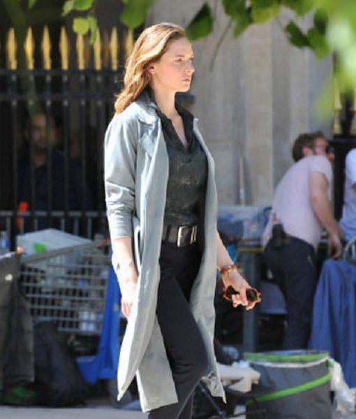 Ilsa Faust MI6 Grey Trench Coat