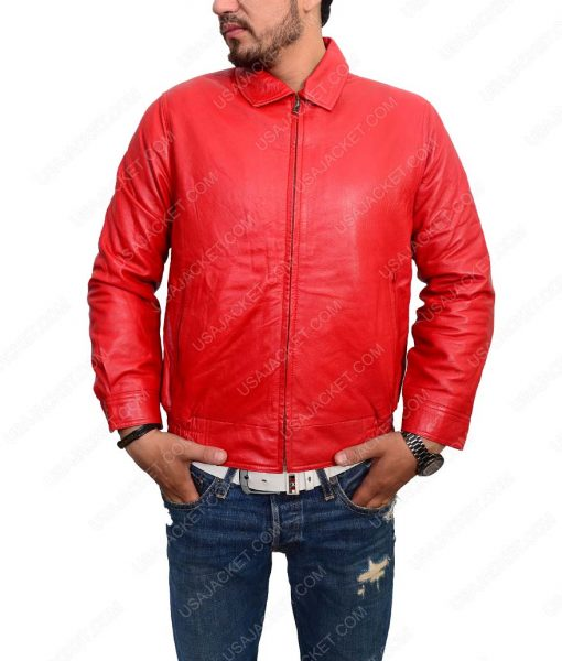 Rebel Without A Cause James Dean Red Leather Jacket