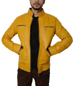Dirk Gently's Holistic Detective Agency Samuel Barnett Leather Jacket
