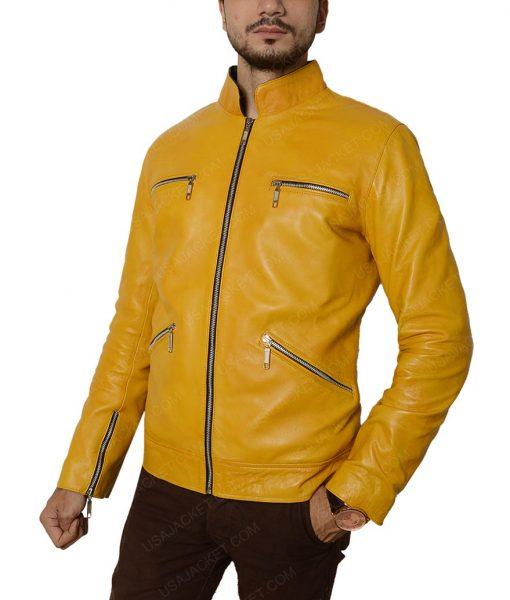 Samuel Barnett Yellow Slimfit Jacket