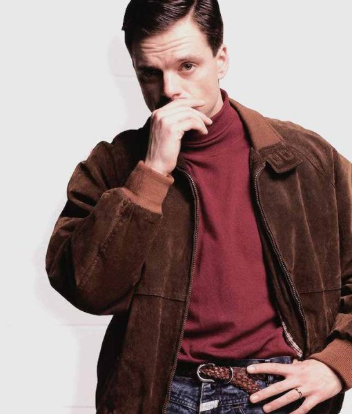 I Tonya Jeff Gillooly Suede Leather Jacket
