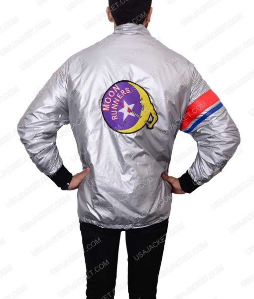 The Warriors Silver Satin Bomber Jacket