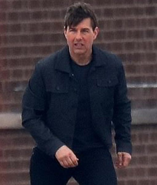 Tom Cruise Cotton Buttoned Jacket