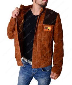 Han Solo Alden Ehrenreich Brown Jacket