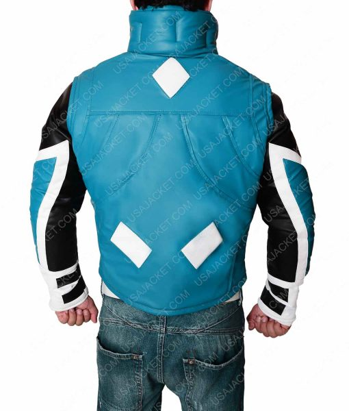 Blue Marvel Leather Jacket