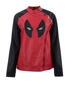 Deadpool Womens Leather Jacket