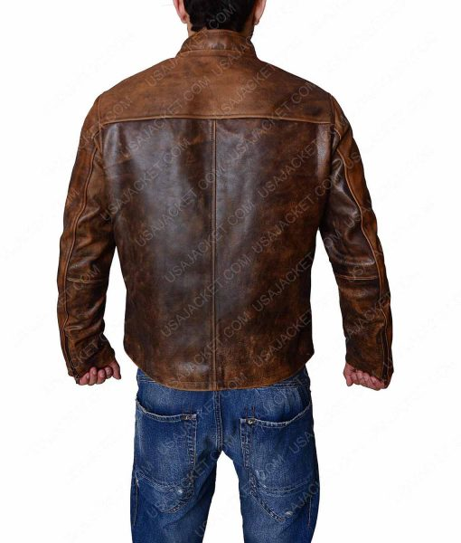 Tom Cruise Distressed Brown Jacket