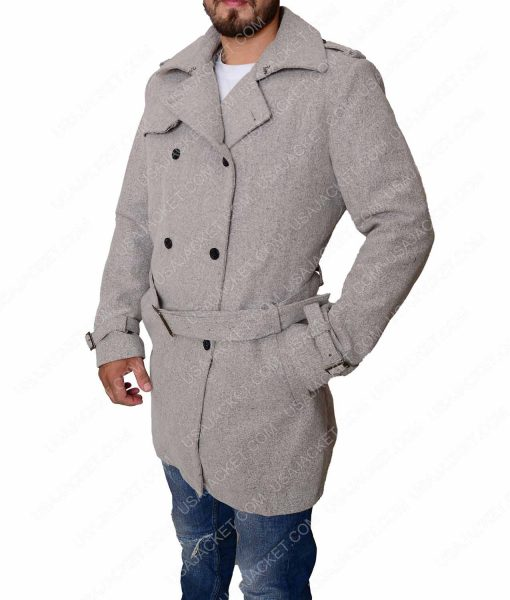 Lex Luthor Grey Trench Coat