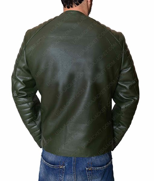 Kid Cudi Green Leather Jacket